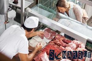 Soñando con comprar carne en la carnicería