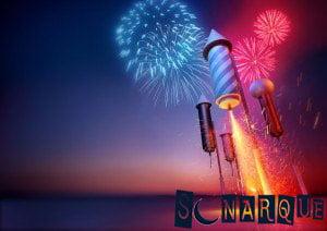 Soñando que enciende fuegos artificiales