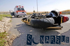 Soñar con un accidente de motocicleta