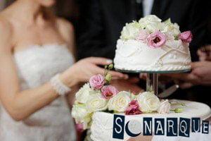 Soñar con un pastel de bodas
