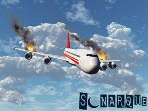 Soñar con un avión en llamas