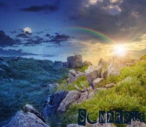 Sueña con arcoíris en la noche