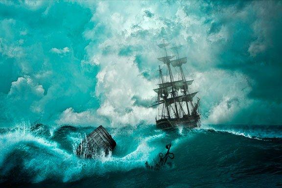 Sueñas con un barco en una tormenta