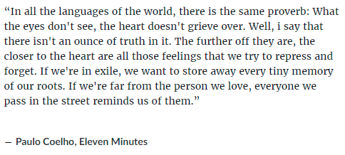 what the eye doesn't see, the heart doesn't grieve over